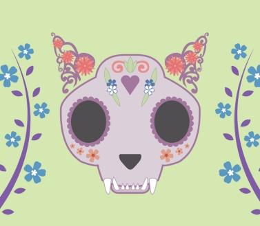 Cat Sugar Skull