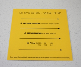 Reverse of Mailer Card